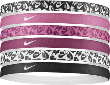Nike Printed haarbandjes 6-pack Zwart