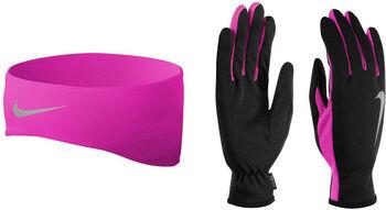 Nike Running Dri-FIT hoofdband en handschoenen set Zwart