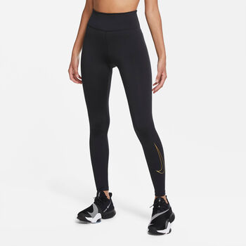 Nike One Icon Clash legging Dames Zwart