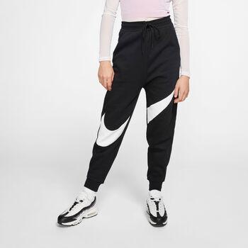 Nike Sportswear Swoosh Fleece broek Dames Zwart