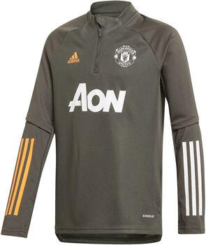 adidas Manchester United trainingsshirt 20/21 Jongens Groen