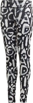 adidas Equip AEROREADY Printed kids legging  Meisjes Zwart