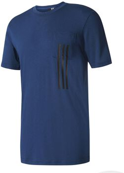 Adidas ID 3-Stripes Pocket shirt Heren Blauw