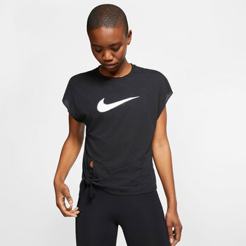 Nike Dry Side Tie top Dames Zwart