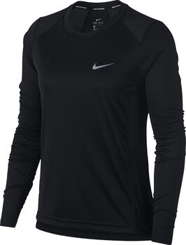 Nike Dry Miler Running longsleeve Dames Zwart