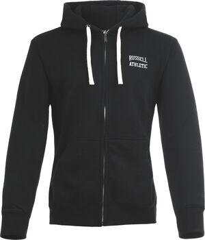 RUSSELL Zip Through hoodie Heren Zwart