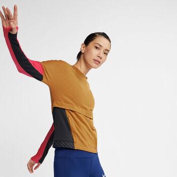 Nike Therma Sphere Dri-FIT top Dames Geel