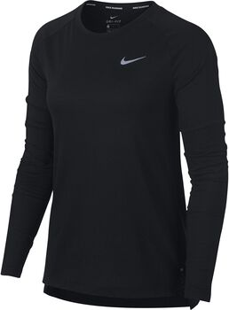 Nike Tailwind Long-Sleeve shirt Dames Zwart