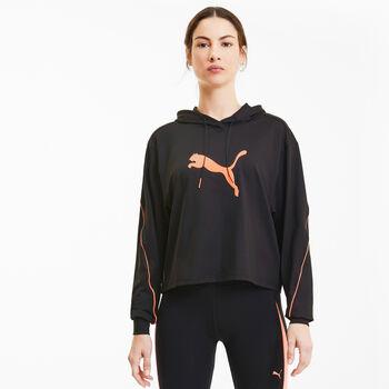 Puma Train Pearl hoodie Dames Zwart