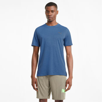 Puma Train Fave Heather t-shirt Heren Blauw