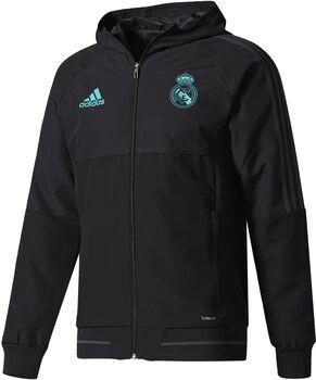 Adidas Real Madrid presentatie jack  Heren Zwart