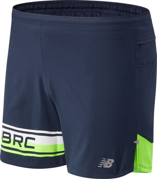 New Balance Printed Impact Run 5-inch short Heren Groen