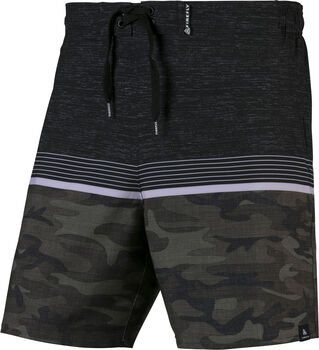 FIREFLY Mark Camo Stripes beachshort Heren Zwart