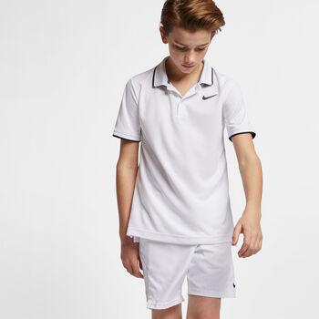 NikeCourt Dri-FIT kids t-shirt Jongens Wit