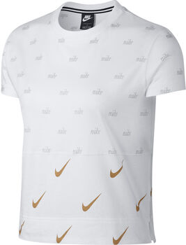 Nike Sportswear Metallic shirt Dames Wit