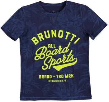 Brunotti Cromic S jr shirt Jongens Blauw