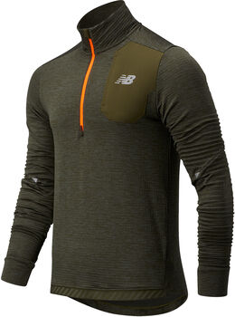 New Balance Impact Run Grid Back Half Long Sleeve shirt Heren Groen