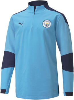 Puma Manchester City 1/4 Zip top kids Jongens Blauw