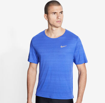 Nike Dri-FIT Miler shirt Heren Blauw