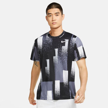Nike Court Dri-FIT top Heren Zwart