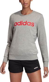 adidas Essentials Linear sweater Dames Grijs