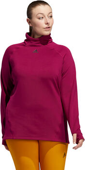 adidas COLD.RDY Mock-Neck Training Longsleeve (Grote Maat) Dames Rood