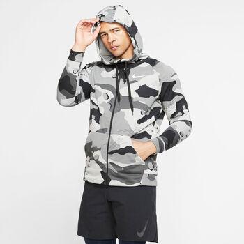 Nike Dry Fleece Camo GFX hoodie Heren Zwart