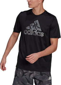 adidas Designed 2 Move Camouflage Graphic AEROREADY T-shirt Heren Zwart