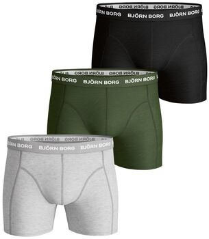 Björn Borg Contrast Solid 3-pack boxershorts Heren Grijs