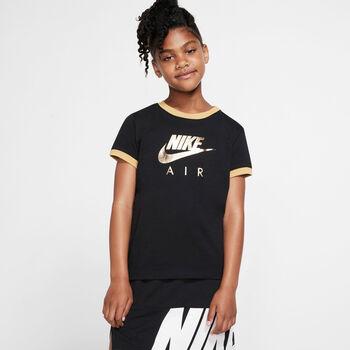 Nike Sportswear Air Logo Ringer shirt Meisjes Zwart