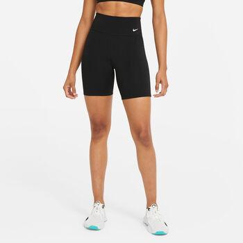Nike One Rainbow Ladder short Dames Zwart