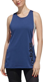 adidas Designed 2 Move Colorblock Tanktop Dames Blauw