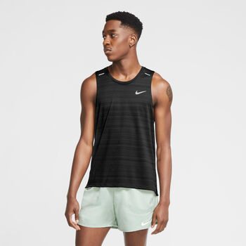 Nike Dri-FIT Miler top Heren Zwart