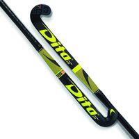 Dita FiberTec C45 L-Bow hockeystick Heren Geel