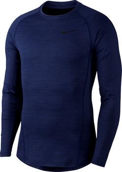 Nike Pro warm top Heren Blauw
