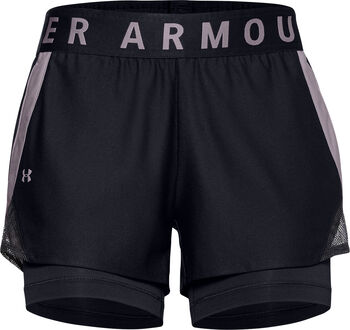 Under Armour Play Up short Dames Zwart