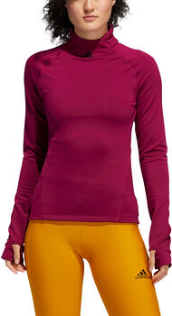 adidas Cold.RDY Mock-Neck Long Sleeve top Dames Rood