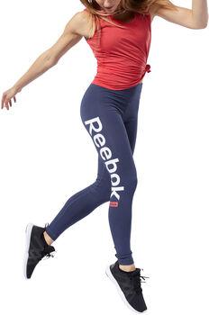 Reebok Linear Logo legging Dames Blauw