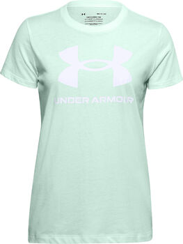 Under Armour Live Sportstyle Graphic shirt Dames Groen