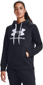 Under Armour Rival Fleece Logo hoodie Dames Zwart