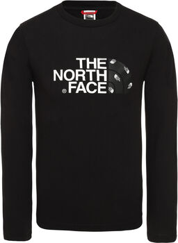 The North Face Easy longsleeve Jongens Zwart