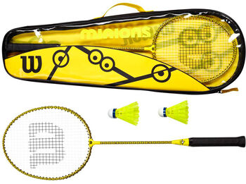 Wilson Minions badmintonset Geel