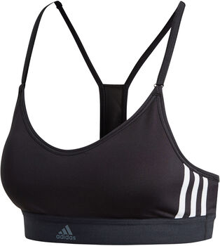 ADIDAS All Me 3-Stripes sportbeha Dames Zwart