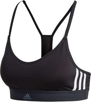ADIDAS All Me 3-Stripes sportbeha Dames Zwart
