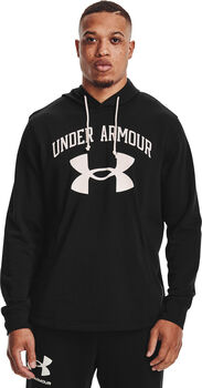 Under Armour Rival Terry Big Logo hoodie Heren Zwart
