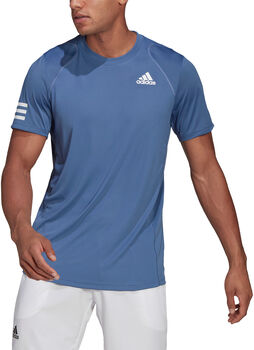 adidas Club Tennis 3-Stripes T-shirt Heren Blauw