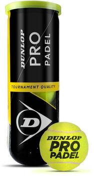 Dunlop Pro Padel ballen (3 stuks) Geel