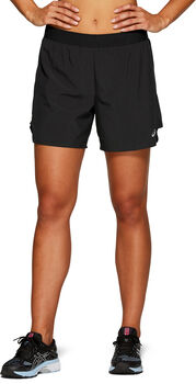 Asics 2-in-1 5inch Short Dames Zwart