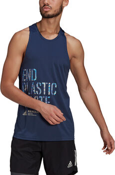 adidas Run for the Oceans Graphic Tanktop Blauw