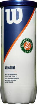 Wilson Rolland Garros All Court 3-tin tennisballen Geel